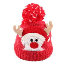 Baby Hat Pompon Winter Children Knitted Cute Cap For Girls BoysCute cartoon Christmas elk warm hats, gifts