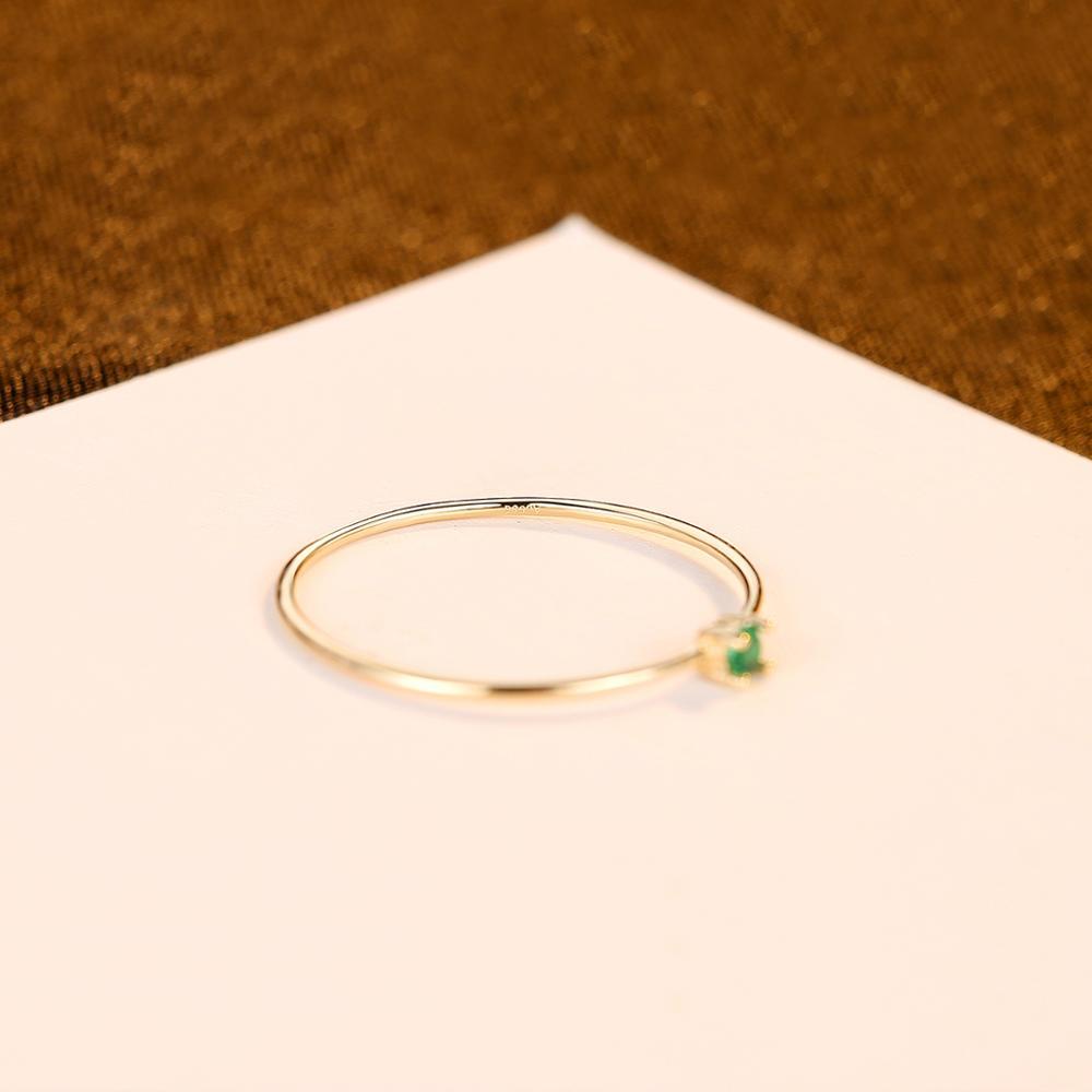 CZCITY nouveau luxe or Pur bijoux 14k or anneaux pour femmes fiançailles mariage or jaune 585 Anillos De Ouro Pur cadeaux R14145 - 5