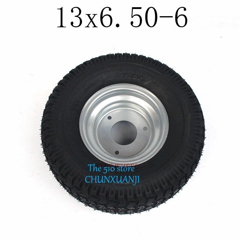 Gran oferta, buena reputación, GO KARTING ATV UTV Buggy 13X6.50-6 pulgadas rueda 13*6,50-6 neumático con buje