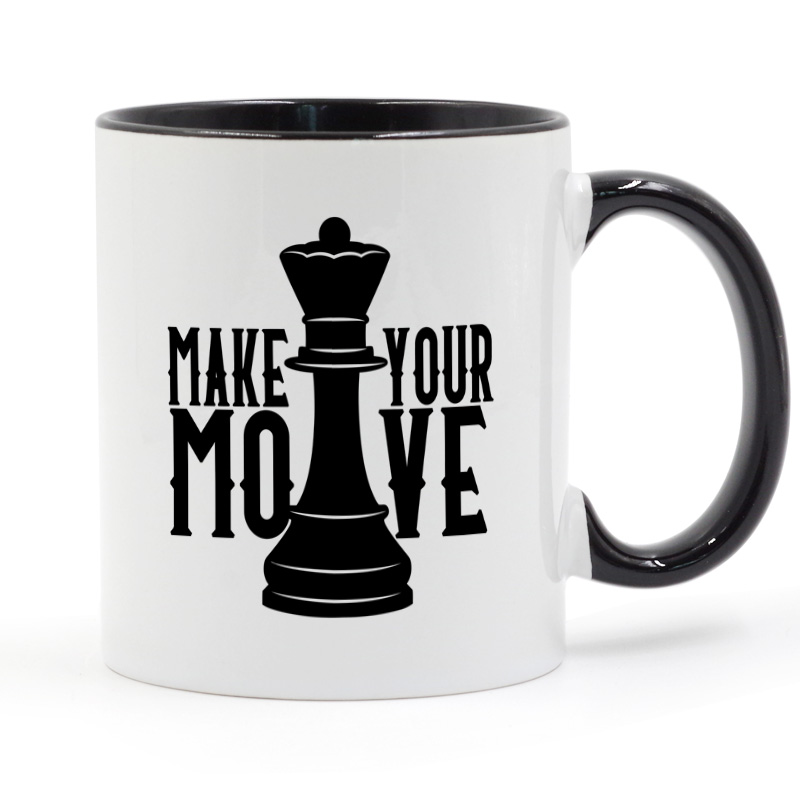 Chess Make Your Move Coffee Mug Ceramic Cup 11oz image