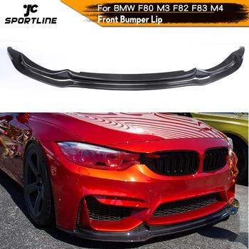 For BMW F80 M3 F82 F83 M4 2014 - 2018 Sedan Coupe Convertible Front Bumper Lip Spoiler Splitters Carbon Fiber / FRP carbon fiber rear lip spoiler diffuser for bmw 4 series f32 coupe f33 convertible f36 gran coupe 2013 2019 bumper modification