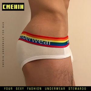 Breathable Cotton Gay Sexy underwear Men Jockstrap Briefs Patchwork New Brand Men Bikini Mens Underwear Mens Panties Funny OR506(China)