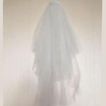 Блестящая двухслойная короткая свадебная вуаль с блестками свадебная вуаль свадебные аксессуары 100~ 130 см цвета шампанского и слоновой кости