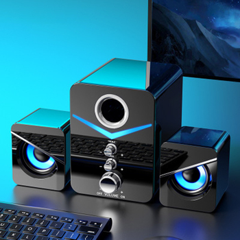 MAYITR 3pcs Surround Bass Stereo Portable Computer Speaker Multimedia bluetooth Speakers With Subwoofer for Desktop PC