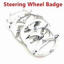 Высококачественный Хромированный серебристый 3D автомобильный логотип на руль значок эмблема наклейка стикер автостайлинг автомобильные ...