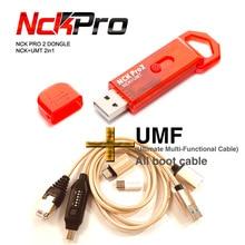 شحن مجاني أحدث أحدث الأصلي NCK برو دونجل NCK Pro2 Dongl + MUF جميع التمهيد كابل (NCK دونغل + UMT دونغل 2 in1)