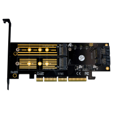 Upgrad Version 3 in 1 Msata and M.2 NVME SATA SSD to PCI-E 4X PCIE 3.0 4.0 and SATA3 Adapter Converter Riser Card M Key B Key uv ink printed barcode card and plastic member key card 3 part supply