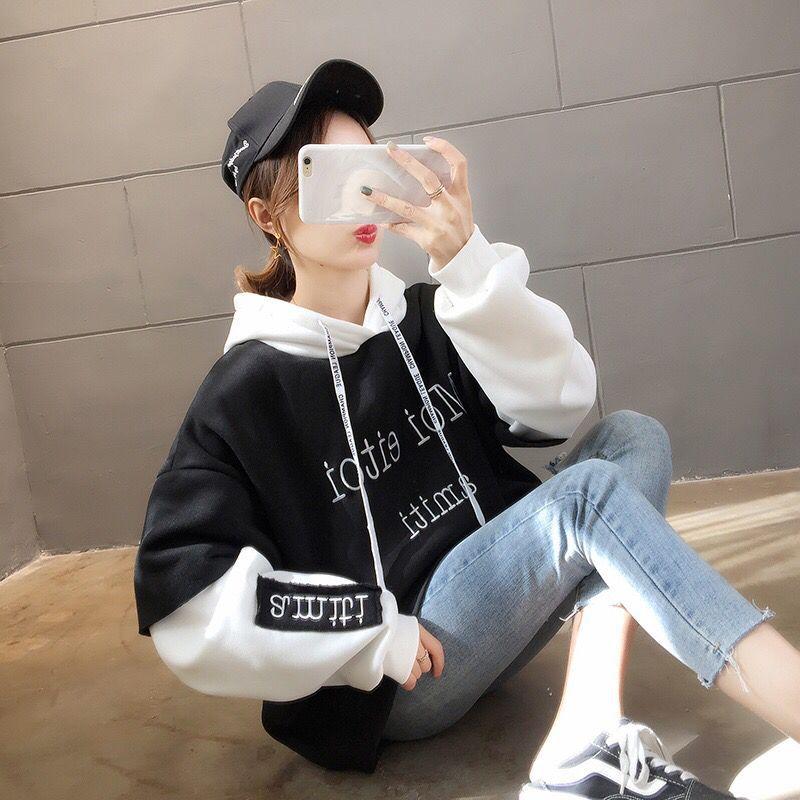 Fashion Women's Fashion Loose Casual Cotton Sweatshirt New 2019