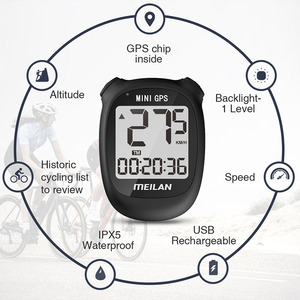 Image 4 - meilan M3 Bike GPS Computer Wireless LCD Display Speedometer Cycling Computer  Odometer Waterproof USB rechargeable
