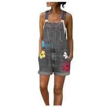 Jumpsuits Denim Shorts Bib-Pants Jeans Woman High-Waist Outwear Fashion Jaycosin Overalls