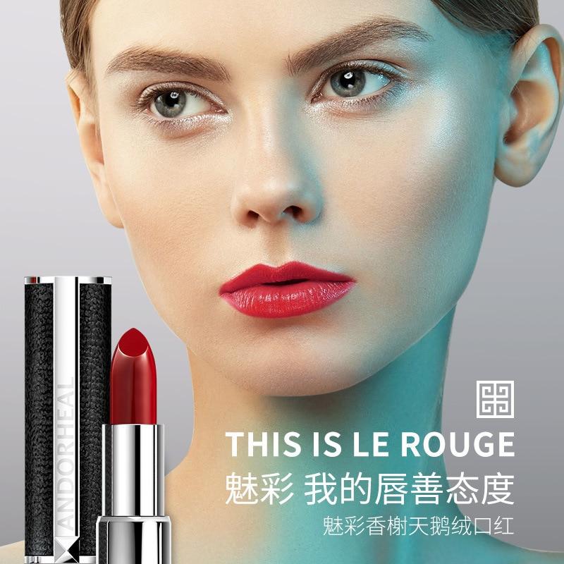 velvet lipstick korean matte lipstick set red Moisturizer Nutritious Waterproof Water-Resistant Long-lasting