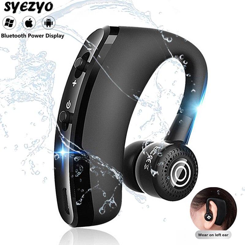 Беспроводные наушники V9, Bluetooth-наушники, водонепроницаемые наушники, спортивные наушники-вкладыши для OPPO, Huawei, Iphone, Xiaomi, TWS, деловая гарнитура