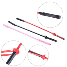 1PCS Black Fetish Whips Faux Leather Flogger SM Horse Whip Flogger Riding Crop Tool Bdsm Games Leather Harnesses Adult Products