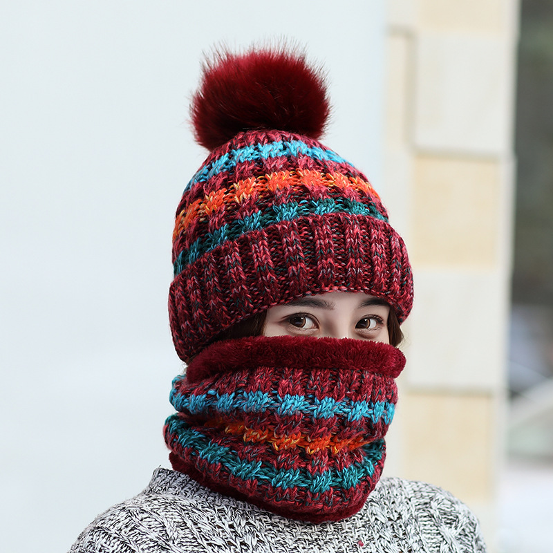 Korean Edition Thickened And Warm Knitted Wool Cap For Autumn And Winter Ladies