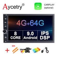 Ips DSP 4G 64G 2 din Android 9,0 автомобильный мультимедийный плеер видео gps навигация головное устройство в тире автомобильный ПК стерео радио без dvd obd2 FM