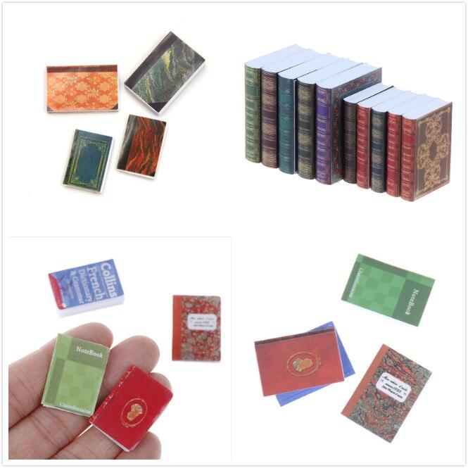 1/12 miniatura livro para boneca presentes de aniversário acessórios para boneca miniatura cena modelo casa de bonecas acessórios