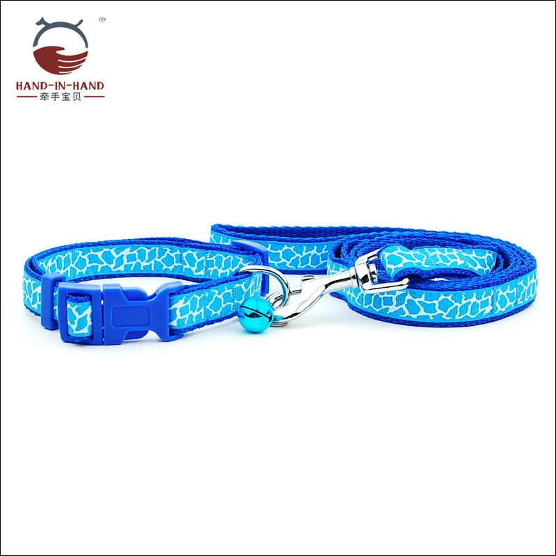 Hand-in-hand Manufacturers Direct Selling Wholesale Dogs And Cats Pet Traction Rope 1.5 Centimeter Giraffe Pattern Lace Pull Nec