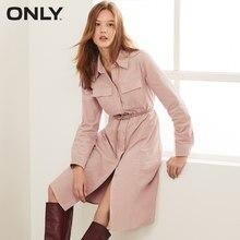 Только осеннее новое платье-рубашка в стиле ретро с высокой талией из вельвета с длинными рукавами для женщин   119307584