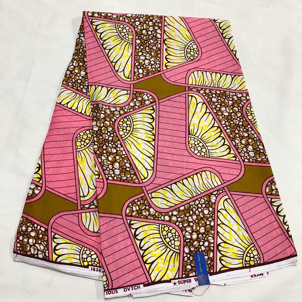 Real Wax Cotton African Fabric Wholesale 2020 Veritable Tissu Ankara Fabric African Wax Prints Materials For Women Dress