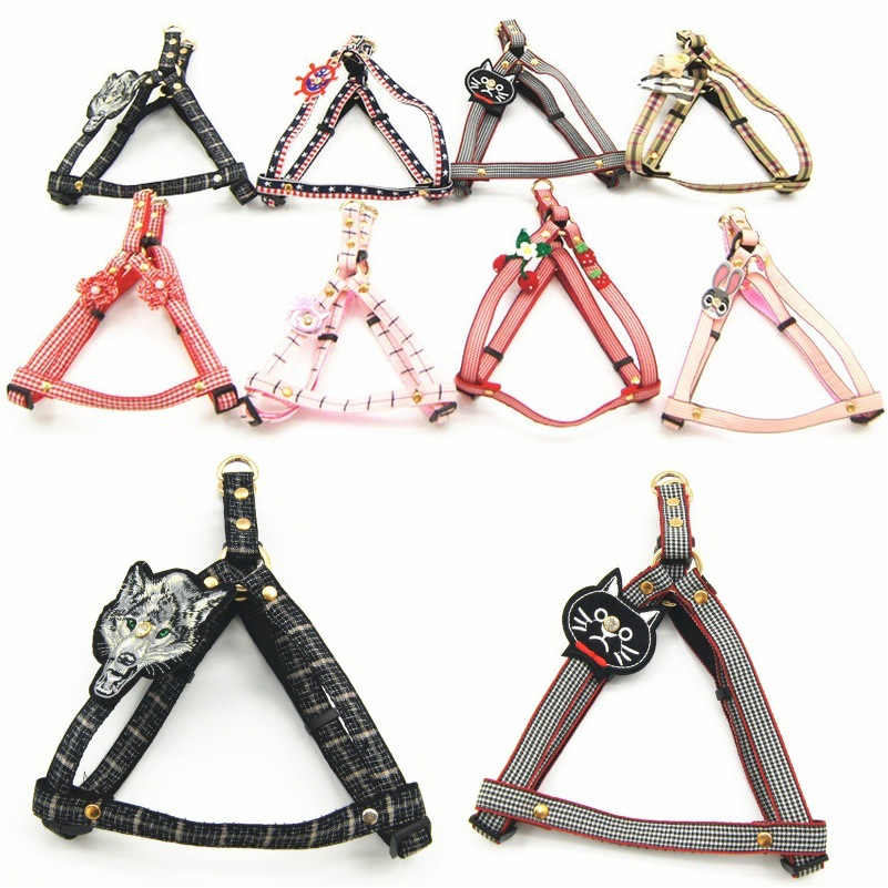 New Style Selectable Pet's Chest-back Small And Medium-sized Dogs Triangular Chest Strap Traction Set Pet Supplies