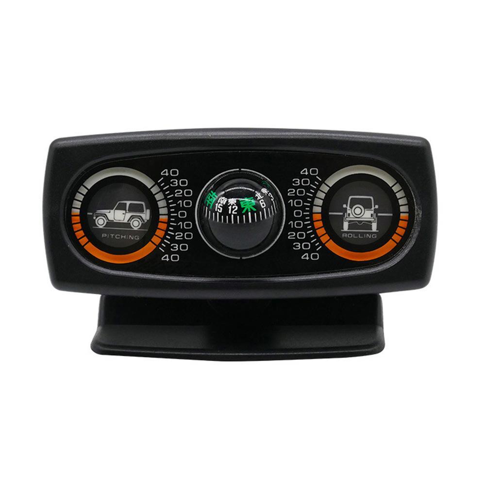 Bússola carro acessórios do carro decoração inclinômetro bússola decoração inclinação ferramenta nível onda instrumento