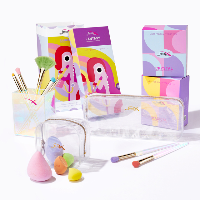 Jessup Makeup Brushes Set Eyeshadow Concealer Blending Brush, Make Up Sponge, Storage Box, Cosmetic Tool Kits With PU Bag 6