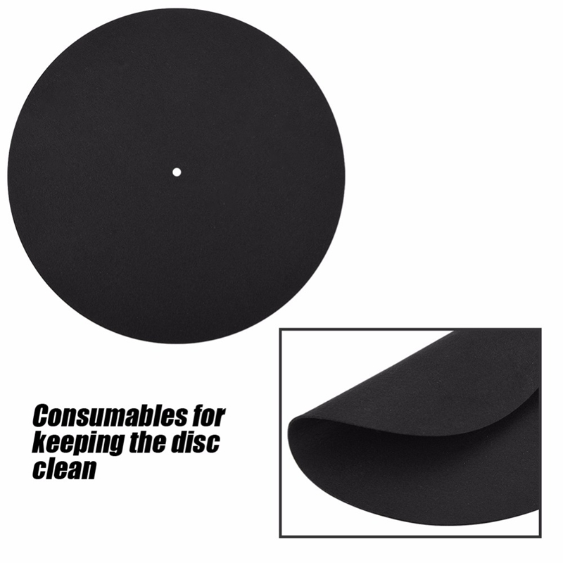 1Pcs Ultra Thin Anti Static Lp Vinyl Turntable Record Player Pad For Phonographs Flat Soft Mat Record Slipmat Mat Pad in Turntables from Consumer Electronics