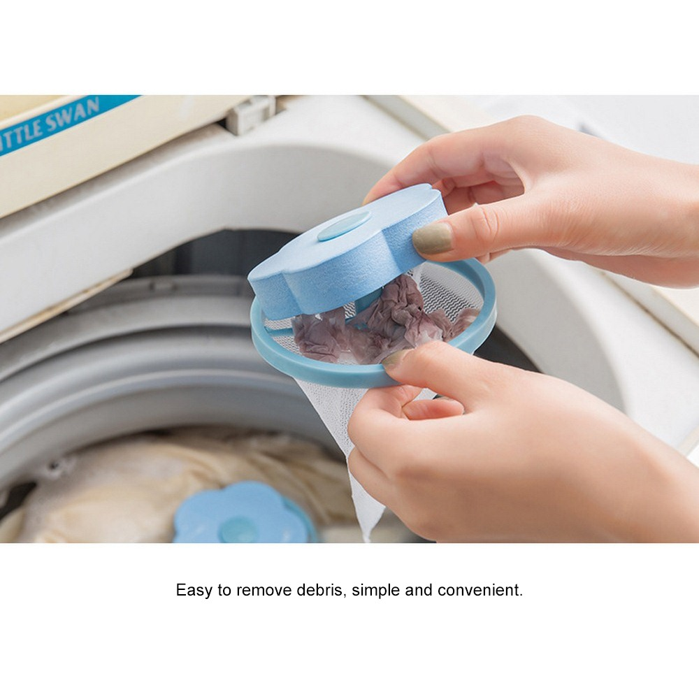 Flower Shape Cleaning Net Bag Mesh Filter Bag Laundry For Washing Machine Hair Debris Recycle Remove Cleaning Ball Net Pouch