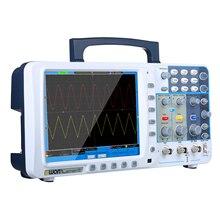 """SDS7102V для OWON 100 МГц цифровой осциллограф 1 г/локон большой """" ЖК-дисплей с VGA выходом 2 канала 10 м длина записи цифровой осциллограф"""
