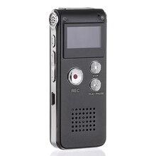 Grabadora de Audio Digital activada por voz profesional, reproductor MP3 portátil de 8GB Grabadora de Voz de Audio, Mini bolígrafo de grabación Digital