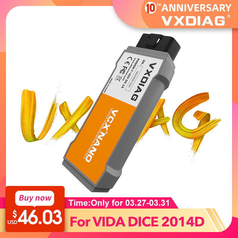 VXDIAG VCX NANO Diagnostic Tool For VOLVO VIDA Dice 2014D OBD2 Code Scanner Obd2 Car Diagnostic Tool 2014D Vida Dice Pro