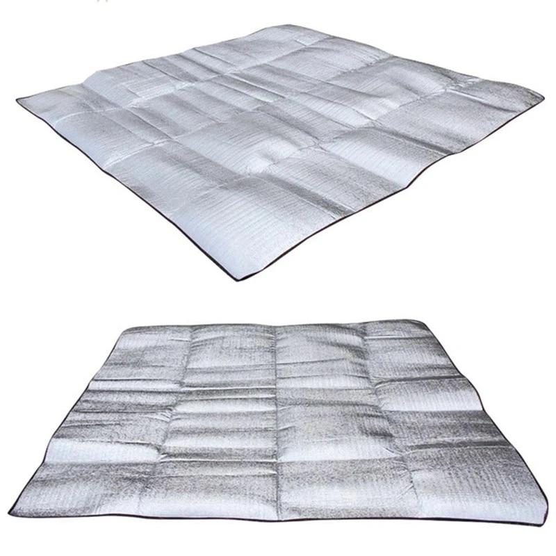 Folding Camping Picnic Sleeping Mattress Pad Waterproof Aluminum Foil EVA Mat.