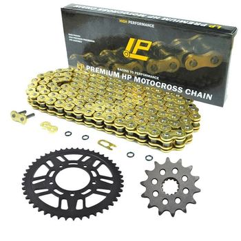 Motorcycle Front Rear Sprocket Chain Set With 520 Kits For Kawasaki KLX300 KLX300R 03-07 KX250 R6F R7F R8F 05-08