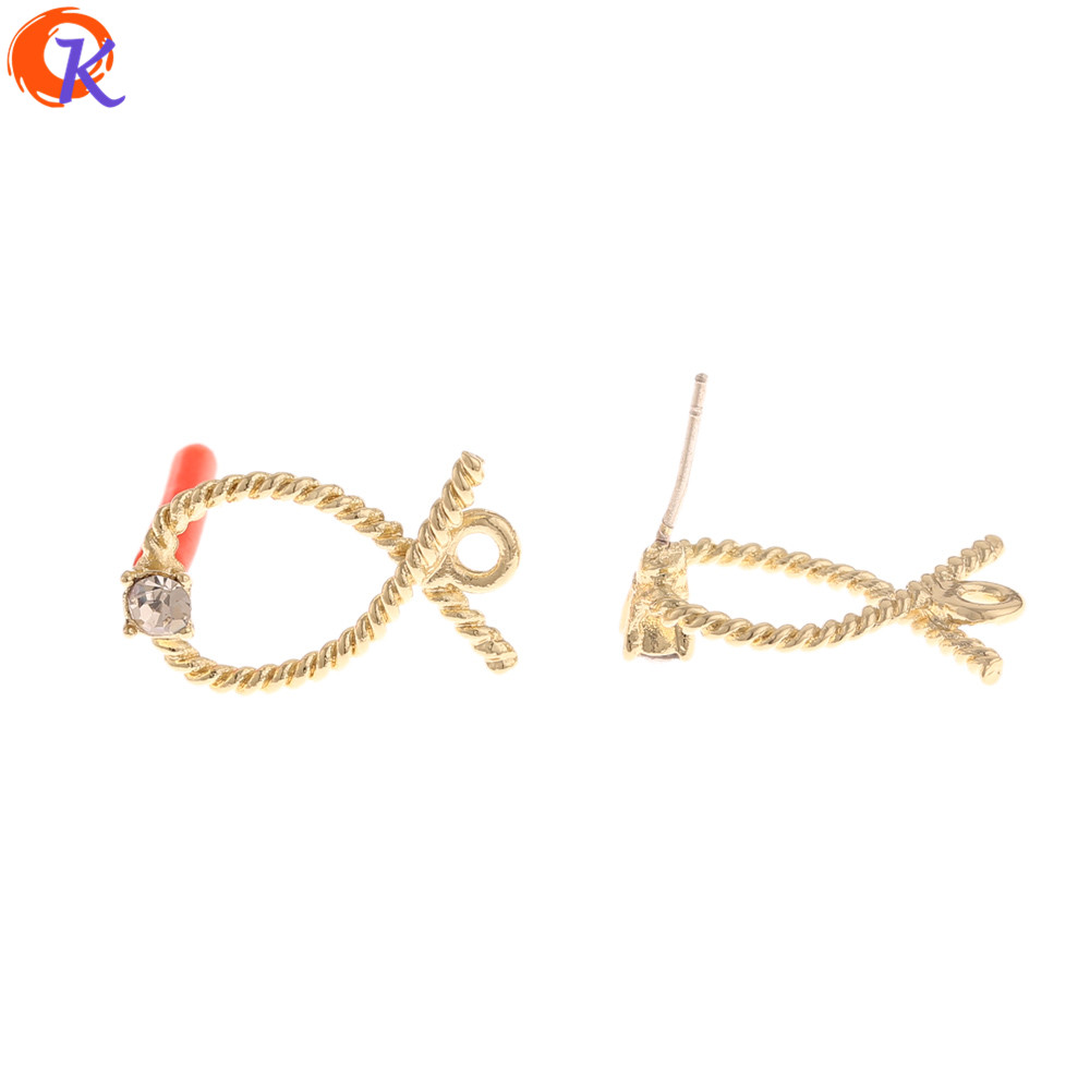 Cordial Design 100Pcs 12*19MM Jewelry Accessories/Rhinestone Earrings Stud/DIY Parts/Jewelry Making/Hand Made/Earring Findings