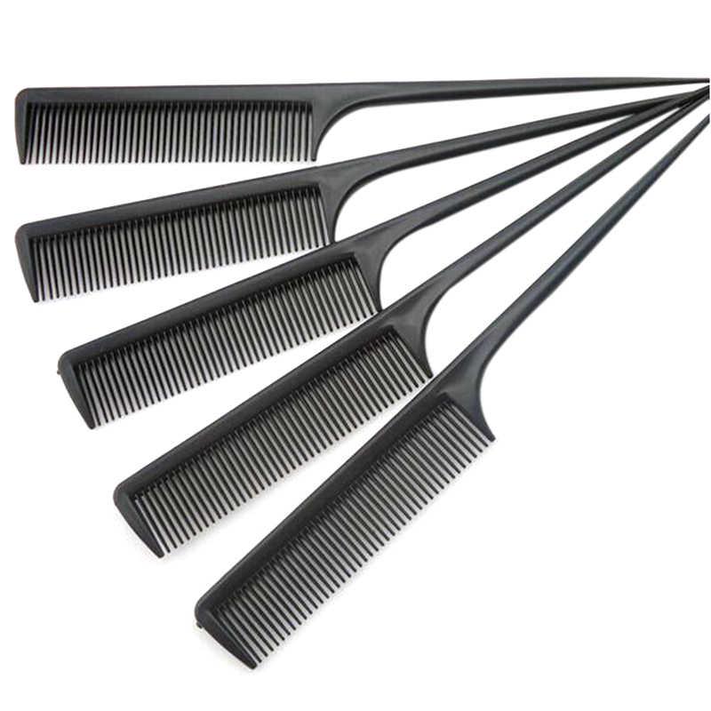 1 Pcs Hairdressing Sisir Anti-Statis Memotong Rambut Sisir Hitam Random Pro Sisir Styling atau Lurus Warna Rambut alat D6Q1
