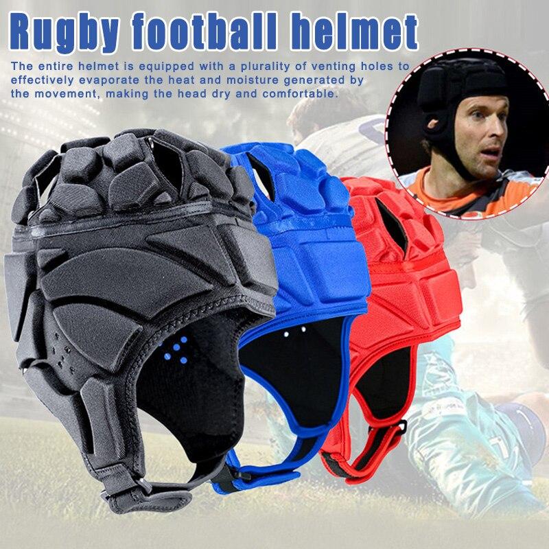 Casque Rugby Adulte Casque de Gardien de But de Football Bleu /Équipement de Protection