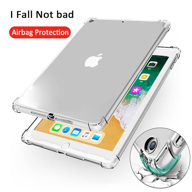 Cases For New IPad Air 3 2 9.7 2017 2018/9 Shockproof Soft TPU Silicon Transparent Slim Cover Case For IPad10.5 Case Mini5 2 3 4