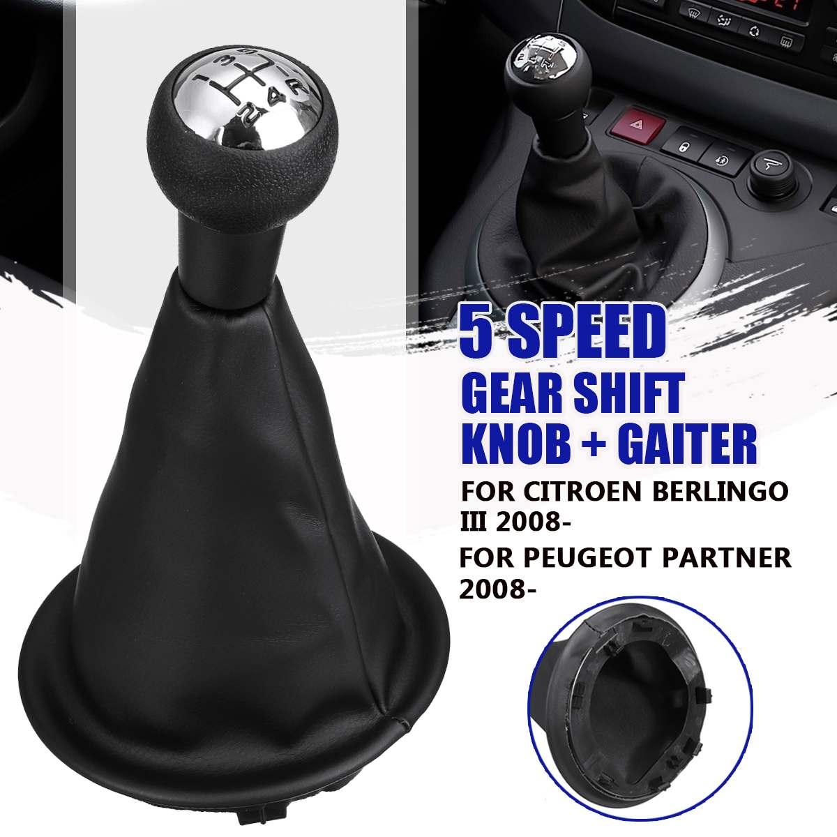 Ручка переключения рулевого механизма автомобиля рычаг переключения передач Gaiter загрузки чехол из искусственной кожи для Citroen Berlingo III MK3 для Peugeot партнер 2008-on