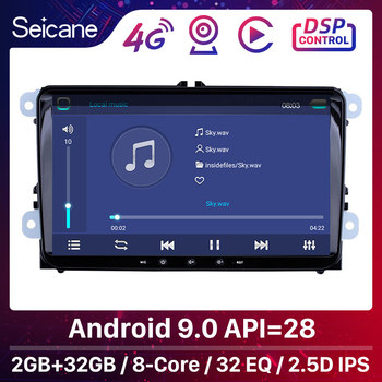 Seicane For VW/Volkswagen/Golf/Tiguan/Passat/b6 b5 RAM 2GB ROM 32GB 9 Android 10.0 API 29 Car Head Unit Stereo player Radio GPS image