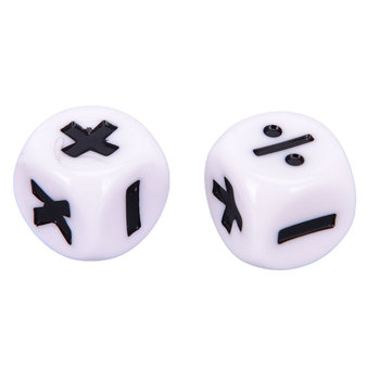 2Pcs 1cm Addition, Subtraction, Multiplication And Division Arithmetic Math Symbol Operation Dice image