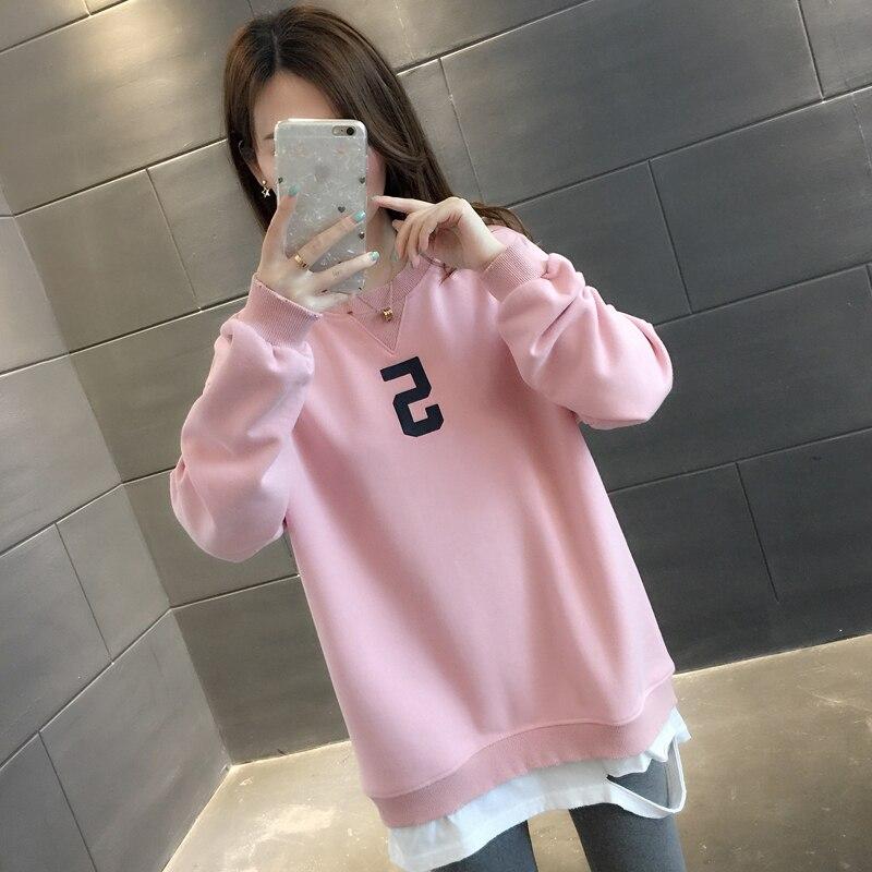 Супер Женский 2019 Осень Новый Дикий Весна и осень тонкое пальто женские толстовки пуловер