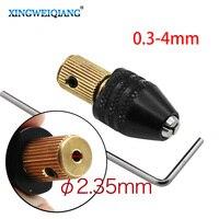 2.35mm 전기 모터 샤프트 미니 척 고정 장치 클램프 0.5mm-3.2mm 드릴 비트 소형 마이크로 척 고정 장치