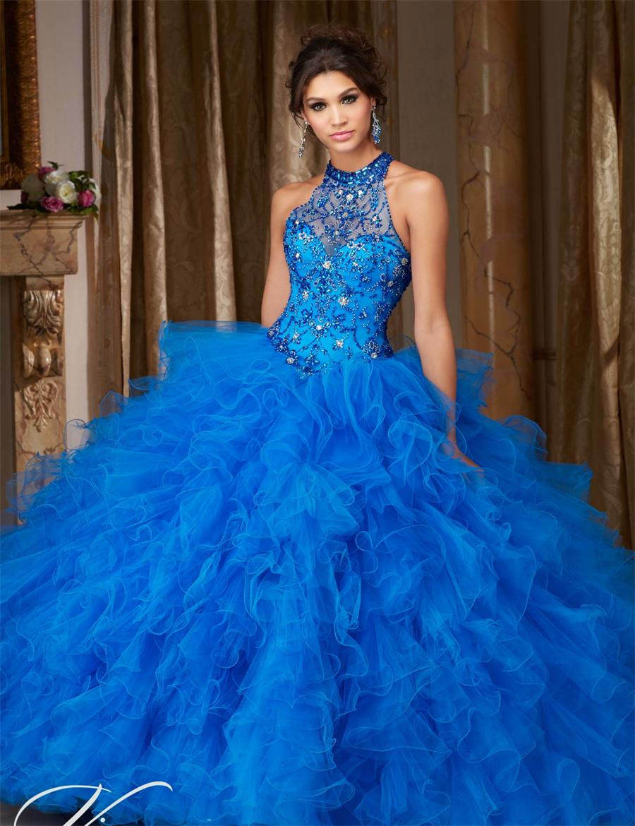 2018 Quinceanera Party Prom Gown Debutante Sweetheart Royal Blue Vestido De Noiva Off The Shoulder Mother Of The Bride Dresses