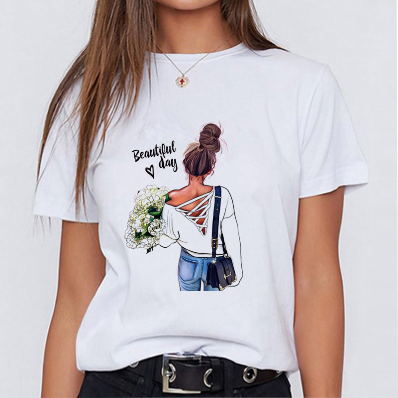 Modern Mom Fashionable T-shirt Korean Fashion Clothing Street Clothing Female T-shirt To Send Girlfriends Friends Holiday Gifts