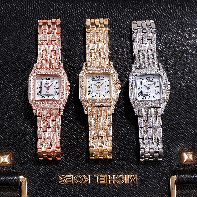 2020 new square wristwatch water diamond women's watch fashion student watch high grade alloy quatz watch 6
