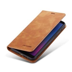 Image 5 - 삼성 전자 갤럭시 a6 2018 커버 지갑 카드에 대 한 럭셔리 자기 플립 가죽 전화 케이스 galaxya6 sm a600fn a600f SM A600F 보호