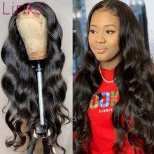 Links 28 30 Polegada onda do corpo cabelo humano 4x4 fechamento do laço perucas para preto mulheres preplucked bebê cabelo brasileiro remy gluess barato peruca