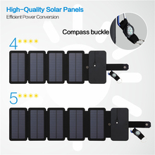 цена на Portable Solar Panel Charger Foldable 10W Solar Charger 5V 2A USB Output Folding Solar Panels For Mobile Phones Outdoor Camping