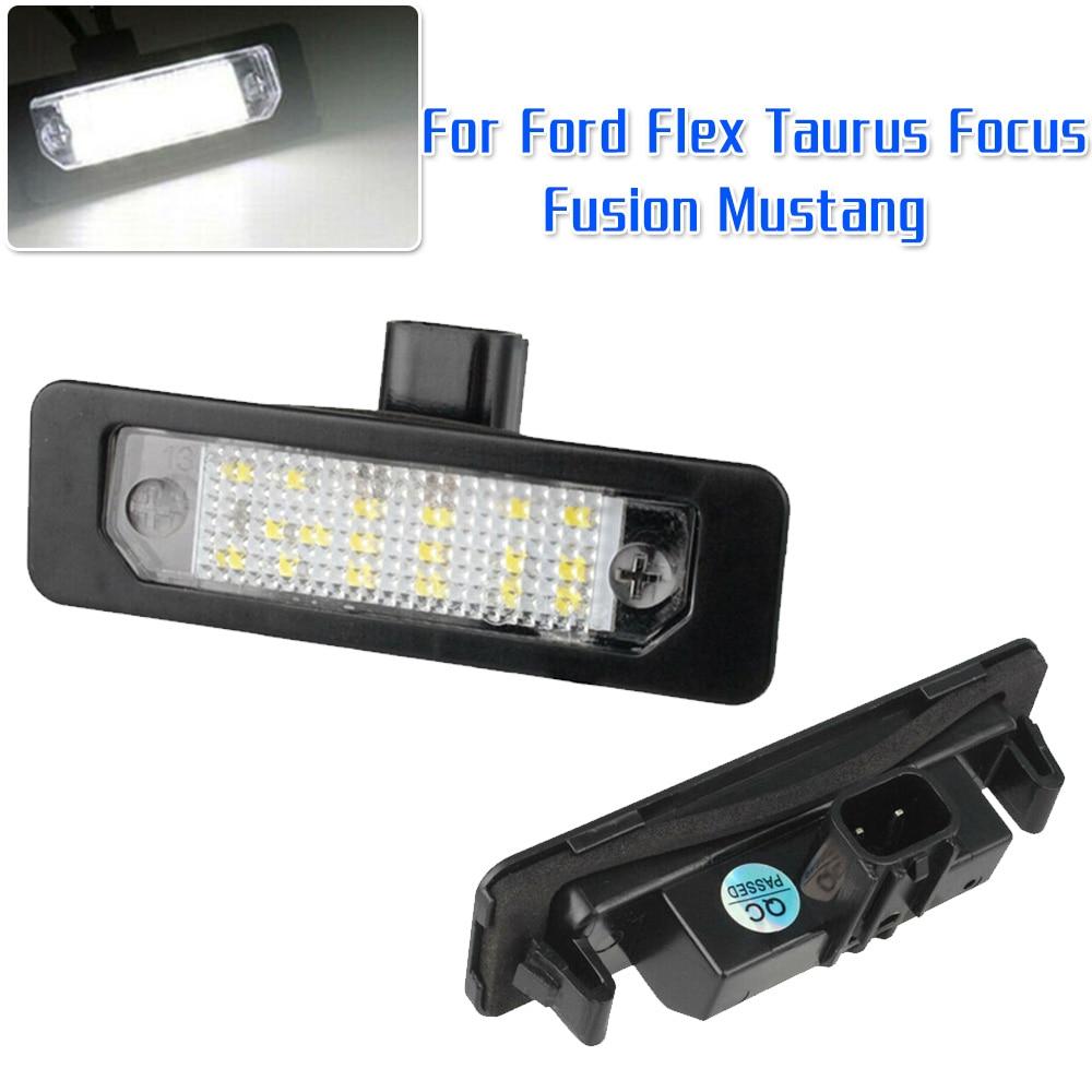 2Pcs Car LED Light Plate Plate per Mustang Fusion Flex Taurus Luce targa