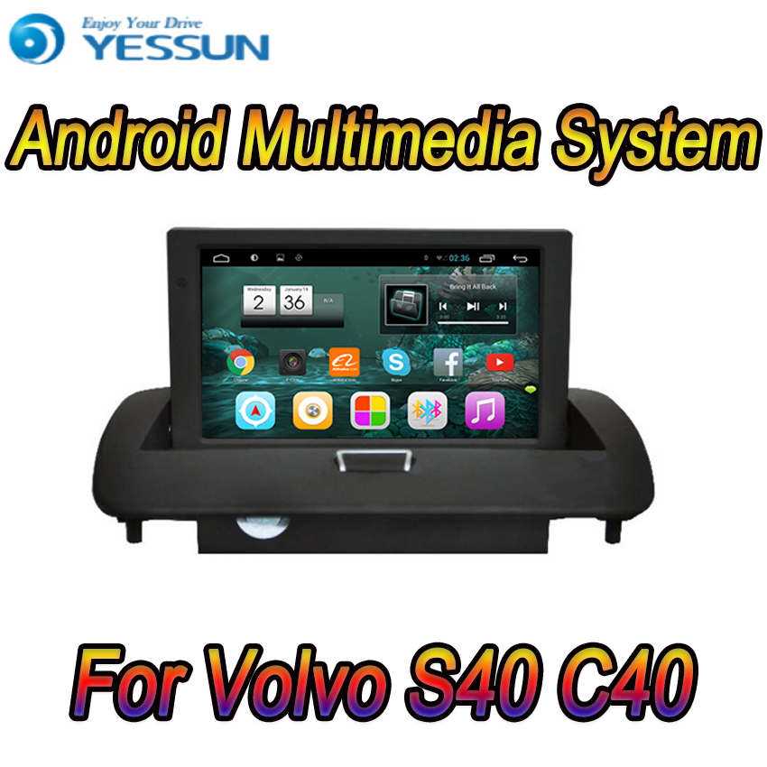 For <font><b>Volvo</b></font> <font><b>S40</b></font> C40 Car Android Media Player System <font><b>Radio</b></font> Stereo GPS Navigation Multimedia Audio Video image
